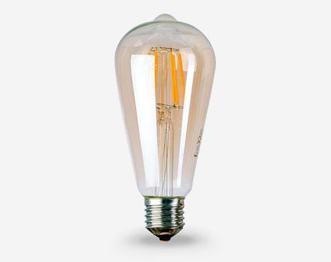 ST64 Light Filamento – Amber LED Lâmpada Aron wk8POn0X